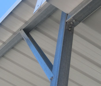 Metal Building Peak Bracing