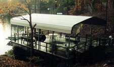 metal boat dock cover