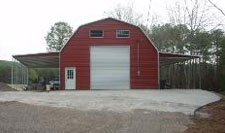 Metal gambrel barn