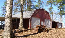 Metal Gambrel barn with extra storage space