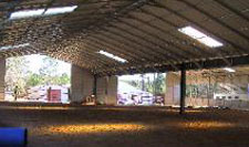 Metal riding arena