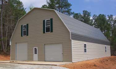 Metal buildings alabama for Gambrel roof metal building