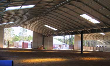 Horse Barns And Agriculture Buildings Shown Inside Of A 70 X 130 Riding Arena
