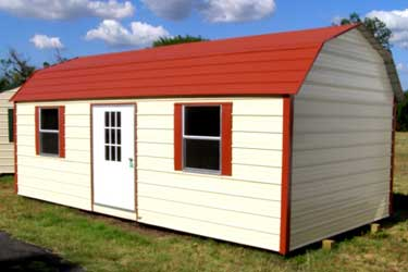 Portable metal building picture gallery for Gambrel style steel building