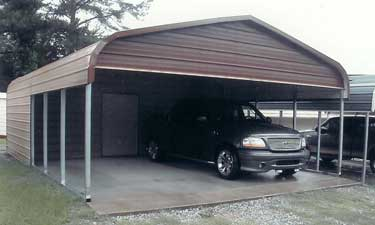 Combo carport storage building gallery for Carport shed combo