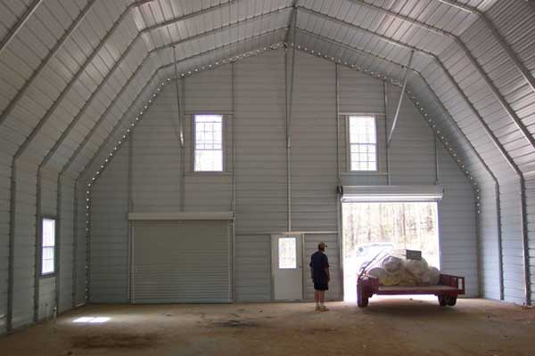 Gambrel barn spacious interior for Gambrel barn prices