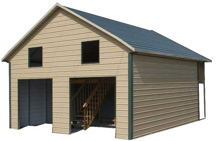 Garage apartment plans steel buildings floor plans for Garage with loft apartment kit
