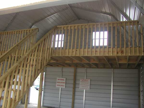 Put a loft in your metal building for Metal building with loft