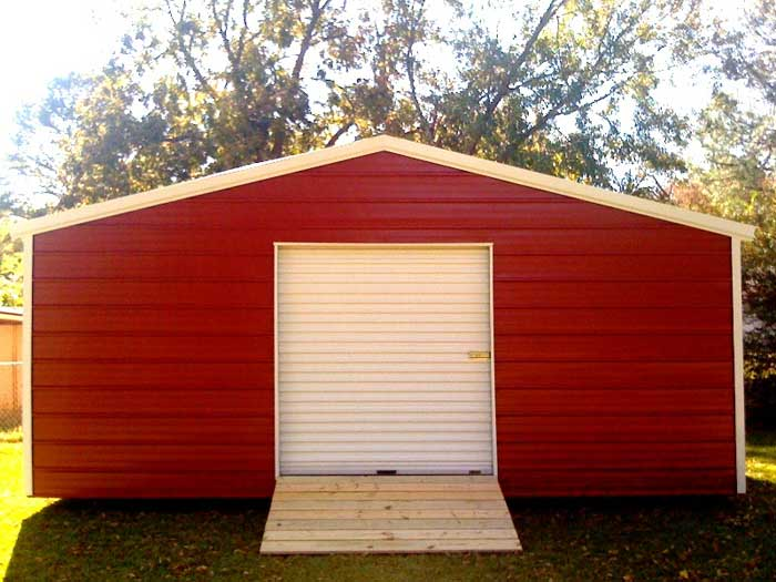 Portable metal storage buildings