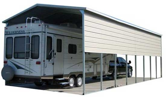Metal RV cover canopy