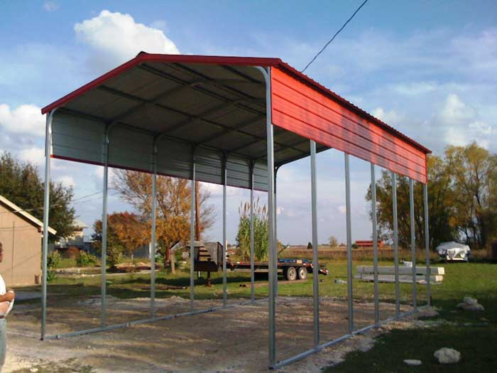 2-car metal carport residential & RV Parking Canopy