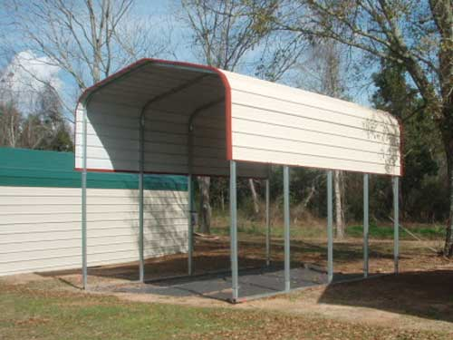 2-car metal carport residential