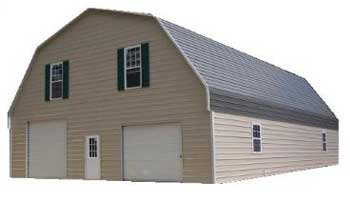 Metal building pricing guide for Gambrel roof metal building