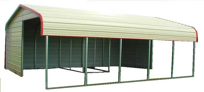 Horse Shelters Metal : Metal livestock shelter loafing shed kit